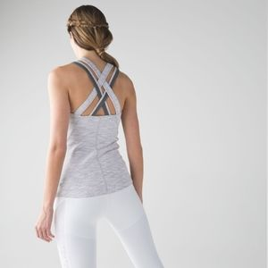 Lululemon Compassion Tank in Wee Are From Space Nimbus Battleship